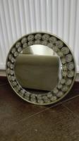 Üvegdíszes világítós retro design fali tükör