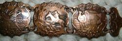 Bronz domborműves jelenetes antik karlánc - kar lánc