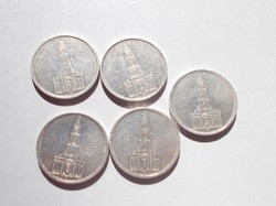 5 darab ezüst Harmadik Birodalom 5 Márka