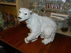 Monumentális Bohemia Royal Dux jegyesmedve - ritka, gyűjtői