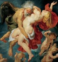 VALÓDI OLAJFESTMÉNY, MESTERMŰ Rubens EREDETI ANTIK FESTMÉNYRŐL, 60 cm LÁTVÁNYOS FESTMÉNY