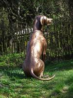 Vizsla életnagyságú bronz szobor