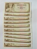 1968 aUNC sorszámkövető 10 dinár 10 db.
