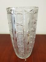 Nagy méretű üveg kristály  váza