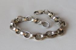 UNISZEX - Gyönyörű tömör ezüst karkötő - súlyos! 49 gr