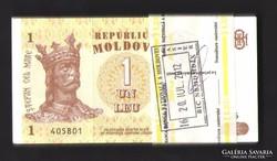 1 leu Moldova. 100 db sorszám követő UNC !!!