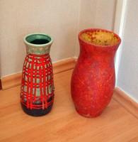 Retró iparművészeti kerámia váza + 1 ajándék!