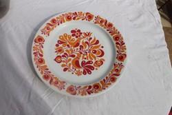 Néprajzi alföldi porcelán falitányér