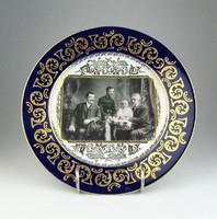 0P008 Altwien családi fotós tányér 24.5 cm