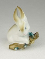 0R105 Zsolnay nyúl nyuszi porcelán figura