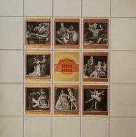 Antik jubileumi 4x bélyeg iv egyben! 100 éves Bécsi állami opera! Gyönyörű, hibátlan állapotban.