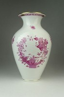 0Q744 Indiai kosaras Herendi porcelán váza 23.5 cm