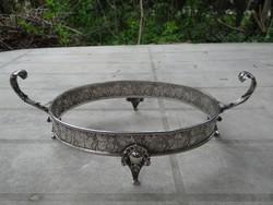 Antik ezüst tál, asztalközép, Diana-fejes 348gr