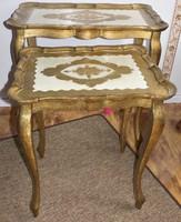 Antik velencei barok két asztalka