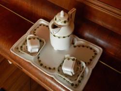 ANTIK 100 éves Biedermeier kávéskészlet