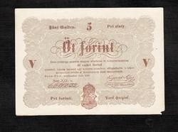 5 forint 1848 Kossuth bankó Barna nyomat
