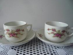 Sarreguemines fajansz csészepár