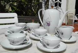 Eschenbach Bavaria  orhidea mintás kávés készlet