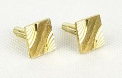 0Q633 Retro aranyszínű mandzsetta pár