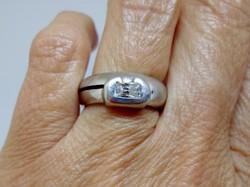 Szép súlyos art deco ezüst gyűrű