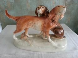 Royal Dux kutya pár