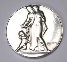 Ezüst házasságkötési emlékérme,gravírozható,1931.