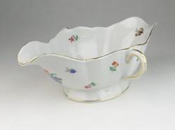 0R206 Régi Herendi pillangós porcelán szószos tál
