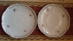 Zsolnay kávés alátét tányér - készlet pótlásra - 2 db - RITKA !