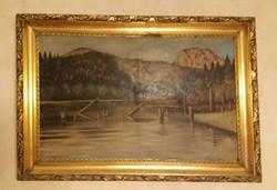Gyilkos-tó festmény