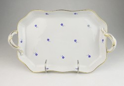 0R193 Herendi kék virág mintás porcelán tál