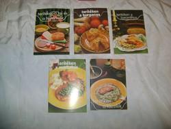 Retro szakácsfüzet - öt darab - gyűjtőknek