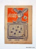 1976 január -  /  ÚTITÁRS  /  SZÜLETÉSNAPRA RÉGI EREDETI ÚJSÁG Szs.:  3818