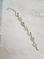 Virágos ezüst karkötő