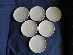 Fehér francia arcopal tejüveg csészealj 6 darab