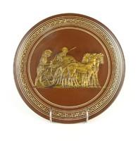 0Q693 Harci jelenetes görög kerámia fali tányér