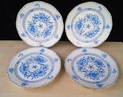 Herendi 4 db Waldstein kék lapos  tányér 524 / WB
