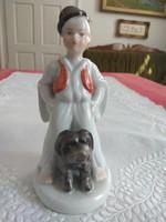 Herendi Bojtár fiú kutyájával