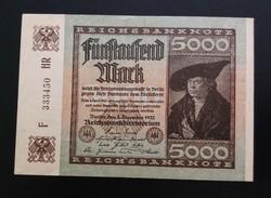 Németország 5000 márka 1922 Unc.