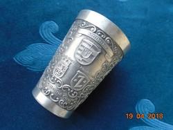 Dombormintás kézzel gravírozott ón pohár-95% Stuttgart