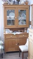 Felújított antik ónémet fenyő tálaló, tálaló szekrény