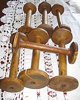 7 db Antik spulni csévélő szövő székhez