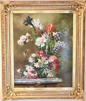 Virág-csendélet - olajfestmény
