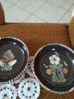 Sárospataki tányérok, kináló, falitanyèrok 2 db