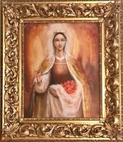 Árpádházi Szent Erzsébet és a rózsák