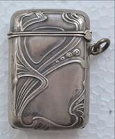 Szecessziós ezüst szelence