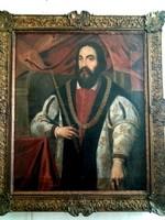 IV. Béla király - 19.századi nagyméretű portré festmény