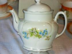 Antik nefelejcses teás kanna