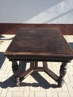 Ónémet étkezőgarnitúra, asztal + 4 darab szék nádazott ülő- és háttámla
