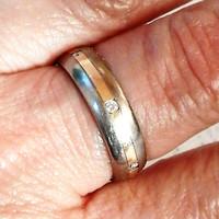14 K Arany Titán Karika Gyűrű Brillek