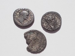 3 db ritkább római dénár Septimius Severus,Vespasianis